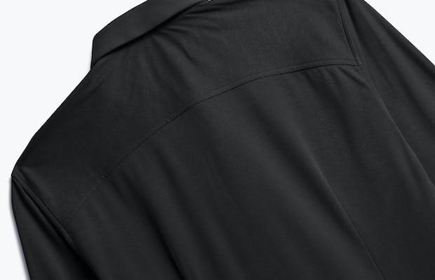 Men's Black Brushed Apollo Dress Shirt close up back