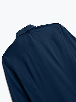 Close up on Men's Apollo Dress Shirt in Navy Blue Brushed Back