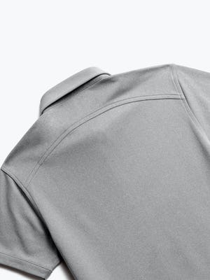 Close up of Mens Charcoal Heather Apollo Polo - Back