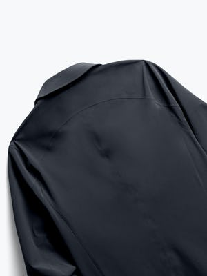 Close up of Mens Black Doppler Mac - Back