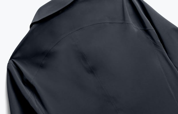 Close up of Mens Black Doppler Mac - Back