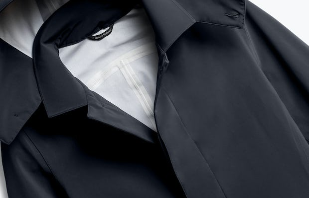 Close up of Mens Black Doppler Mac - Front