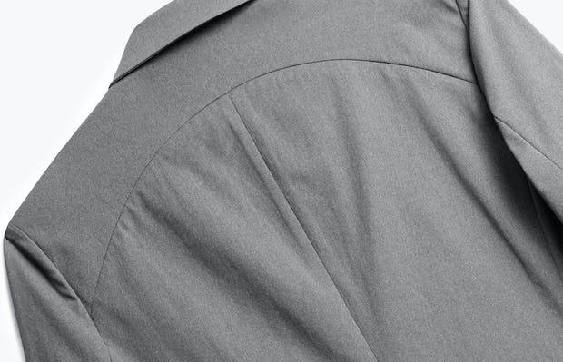 Close up of Mens Slate Grey Kinetic Blazer - Back