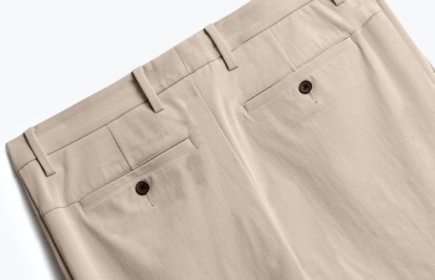 Close up of Mens Desert Khaki Momentum Chino - Back