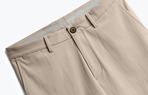 Close up of Mens Desert Khaki Momentum Chino - Front