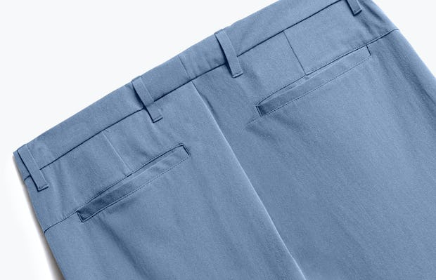 Close up of Mens Storm Blue Momentum Chino - Back