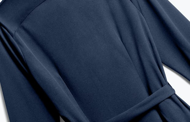 Close up of Womens Navy Apollo Shirt Dress - Back