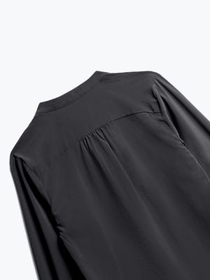Close up of Womens Black Juno Patch Pocket Blouse - Back