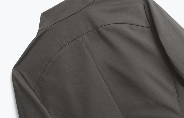 Close up of Womens Charcoal Heather Kinetic Blazer - Back