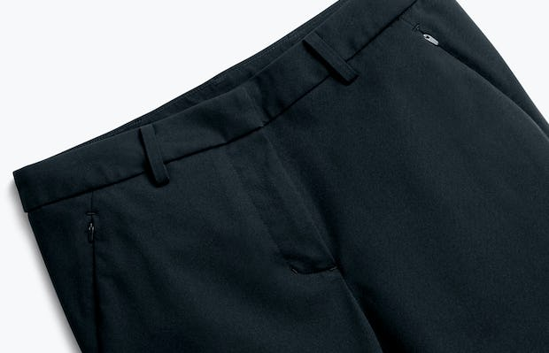 Close up of Womens Navy Kinetic Slim Pants - Front