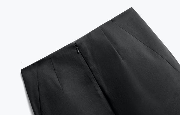 Close up of Womens Black Kinetic Pencil Skirt - Back