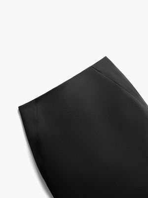 Close up of Womens Black Kinetic Pencil Skirt - Front