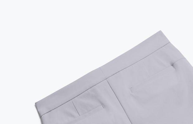 Close up of Womens Light Grey Momentum Shorts - Back