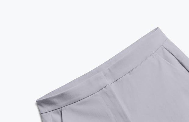 Close up of Womens Light Grey Momentum Shorts - Front