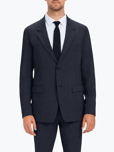 Men's Navy Velocity Suit Jacket on Model facing forward