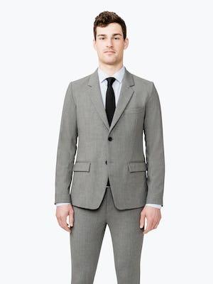 Men's Grey Velocity Suit Jacket on model facing forward