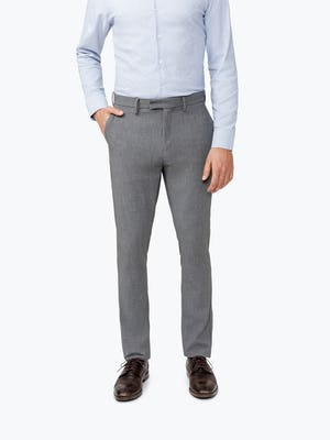Men's Grey Velocity Pant on Model Facing forward with hand in pocket