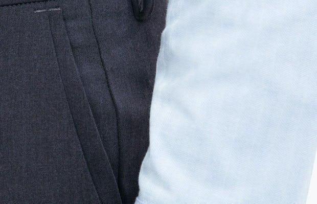 close up of waistband of Men's Navy Velocity Dress Pant