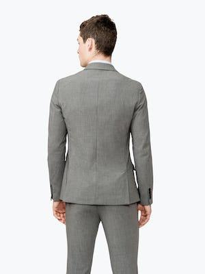 Men's Grey Velocity Suit Jacket on model facing backward
