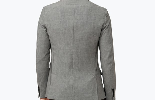 Men's Grey Velocity Suit Jacket on model facing backward