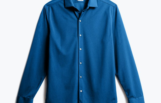 Men's Royal Blue Recycled Apollo Dress Shirt front view