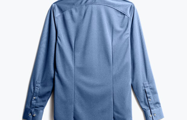 Men's Steel Blue Recycled Apollo Dress Shirt back view