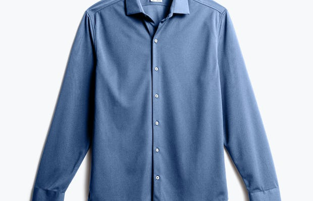 Men's Steel Blue Recycled Apollo Dress Shirt front view