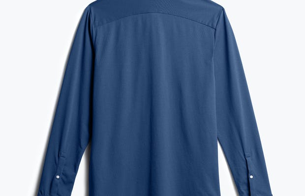 Men's Cadet Blue Composite Merino Shirt back view
