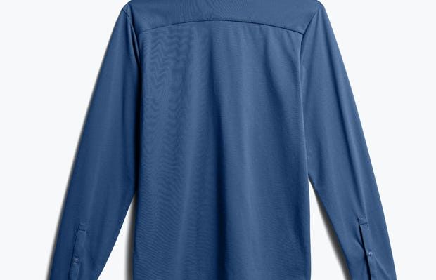 Men's Cadet Blue Composite Merino Henley back view