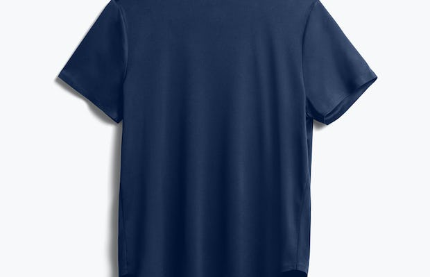 Women's Navy Luxe Touch Tee back view