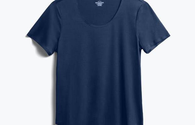 Women's Navy Luxe Touch Tee front view