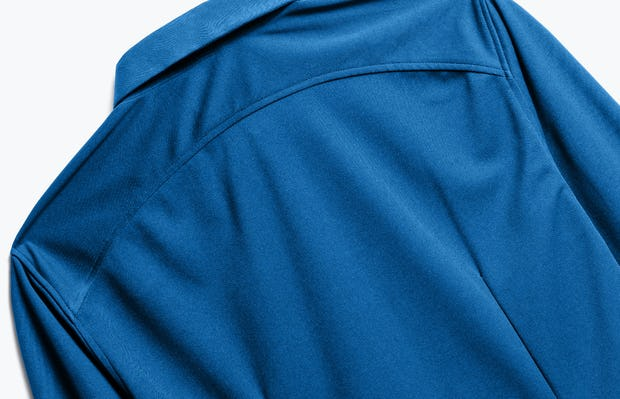 Close up of Men's Royal Blue Recycled Apollo Dress Shirt back