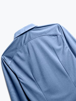 Close up of Men's Steel Blue Recycled Apollo Dress Shirt back