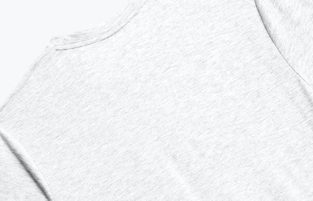 Close up of Men's Light Grey Composite Merino Tee back