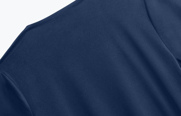 Close up of Women's Navy Luxe Touch Tee back