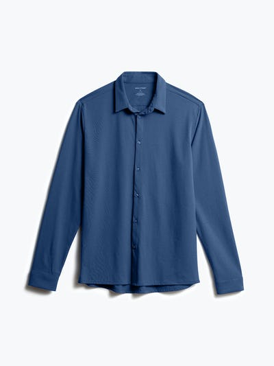 Men's Cadet Blue Composite Merino Shirt front view