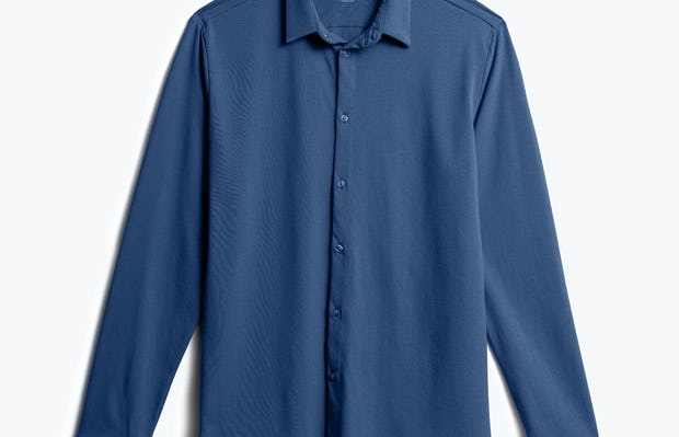 Men's Cadet Blue Composite Merino Shirt front view