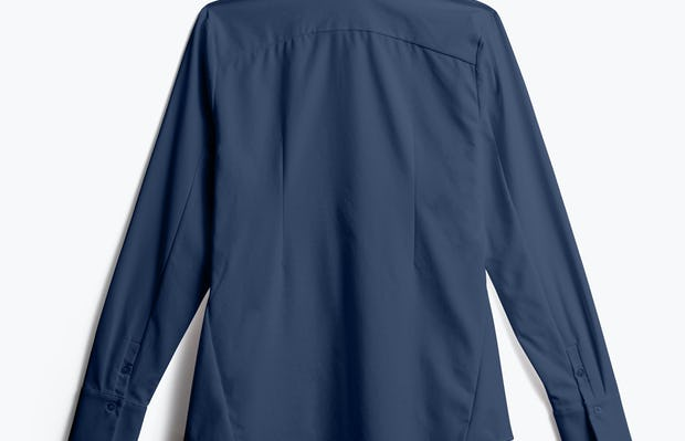 Women's Navy Juno Recycled Tailored Shirt back view