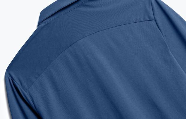 Close up of Men's Cadet Blue Composite Merino Shirt back