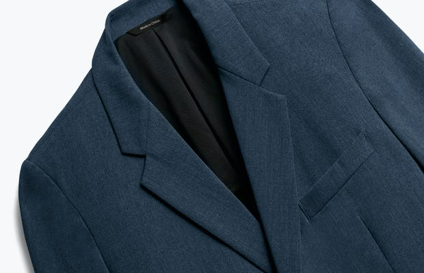 Close up of Men's Dark Navy Velocity Blazer Front