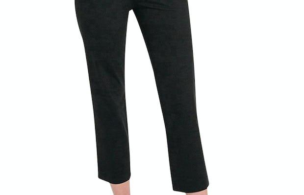 Women's Black Skinny Crop Kinetic Pants on Model facing forward