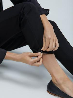 Womens Black Fusion Straight Leg Pant - On Model