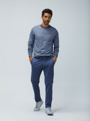 Mens Indigo Static Atlas Nylon Swater and Indigo Heather Kinetic Pant - On Model