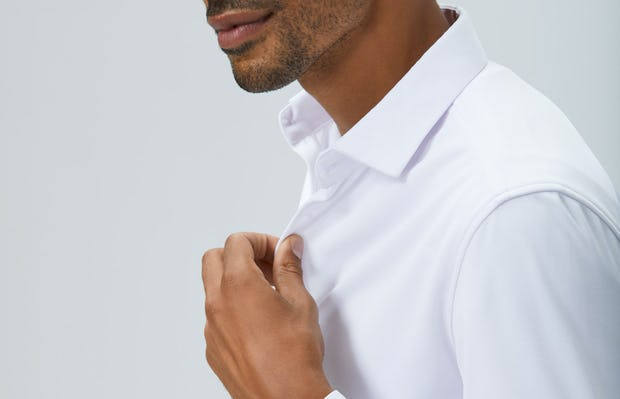 Mens White Apollo Dress Shirt - On Model 2