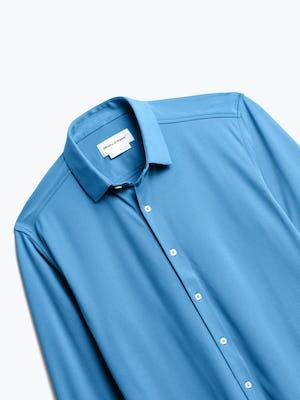 Close up of Men's Storm Blue Apollo Dress Shirt front