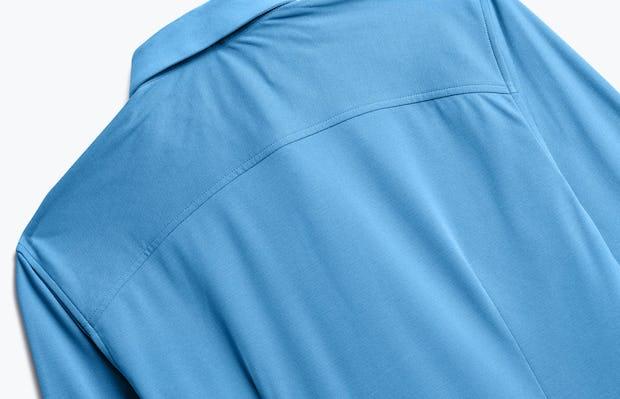 Close up of Men's Storm Blue Apollo Dress Shirt back