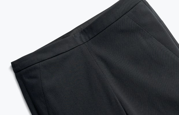 Close up of Women's Black Skinny Kinetic Pants front