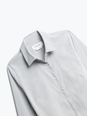 Close up of Women's Grey Stripe Aero Dress Shirt front