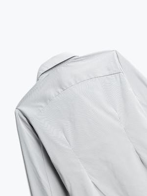 Close up of Women's Grey Stripe Aero Dress Shirt back