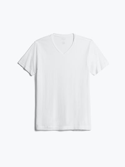 Men's White Atlas V-Neck Tee Front